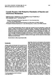 Cyanide Reaction with Ninhydrin: Elucidation of Reaction ... - J-Stage