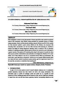 CYANIDE REMOVAL FROM WASTEWATER BY ... - Semantic Scholar