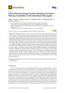Cyber Physical Energy Systems Modules for Power Sharing ... - MDPI