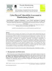 Cyber-physical Vulnerability Assessment in ... - Science Direct