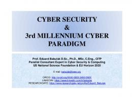 CYBER SECURITY & 3rd MILLENIUM CYBER WORLD