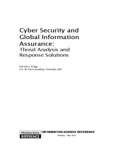 Cyber Security and Global Information Assurance