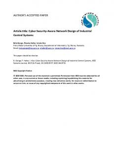 Cyber Security-Aware Network Design of Industrial Control Systems