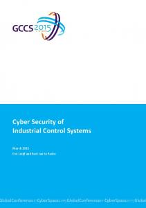 Cyber Security of Industrial Control Systems - The Hague Security Delta