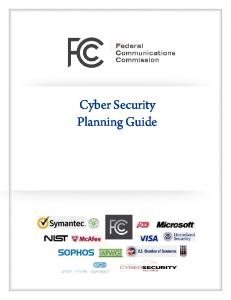 Cyber Security Planning Guide - Federal Communications Commission