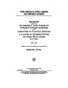 cyber threats to capital markets and corporate accounts hearing