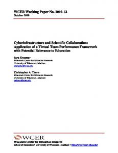 Cyberinfrastructure and Scientific Collaboration - ERIC - US ...