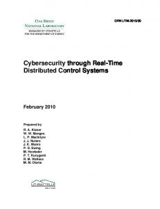 Cybersecurity through Real-Time Distributed Control ... - wiki.ornl.gov