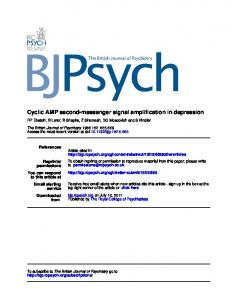Cyclic AMP second-messenger signal amplification in ...