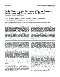 Cyclic Changes in the Expression of Steroid Receptor Coactivators ...