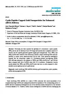 Cyclic Peptide-Capped Gold Nanoparticles for Enhanced ... - MDPI