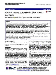 Cyclical cholera outbreaks in Ghana: filth, not myth - Infectious ...