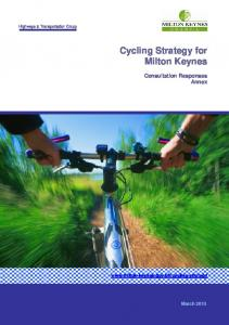 Cycling Strategy Annex - Milton Keynes Council