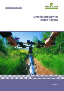Cycling Strategy for Milton Keynes - Milton Keynes Council