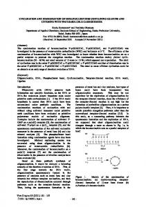 CYCLIZATION AND DIMERIZATION OF HEXANUCLEOTIDES ...