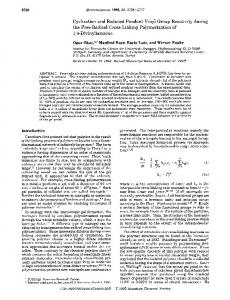 Cyclization and Reduced Pendant Vinyl Group Reactivity during the ...