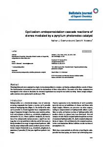 Cyclization–endoperoxidation cascade reactions of ... - Beilstein Journal
