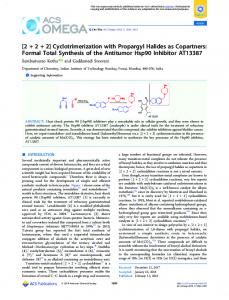 Cyclotrimerization with Propargyl Halides as ... - ACS Publications