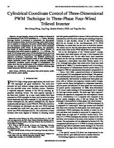Cylindrical coordinate control of three-dimensional PWM ... - IEEE Xplore