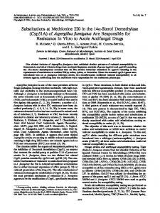 (Cyp51A) of Aspergillus fumigatus Are Responsible for Resistance In