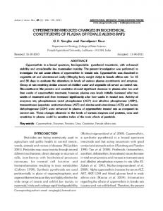 cypermethrin induced changes in biochemical ... - ARCC Journals