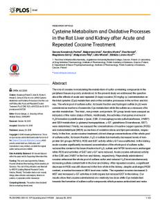 Cysteine Metabolism and Oxidative Processes in