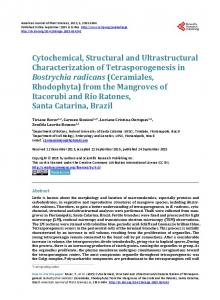 Cytochemical, Structural and Ultrastructural Characterization of ...