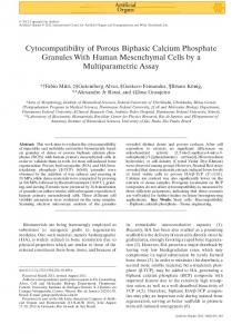 Cytocompatibility of Porous Biphasic Calcium Phosphate Granules