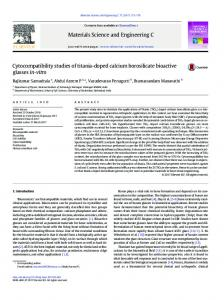 Cytocompatibility studies of titania-doped calcium ...