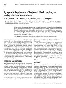 Cytogenetic Impairments of Peripheral Blood ... - Springer Link