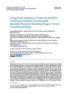 Cytogenetic Response in Chronic Myeloid Leukaemia Patients ...