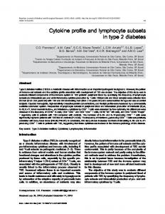 Cytokine profile and lymphocyte subsets in type 2 diabetes - Scielo.br