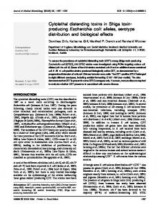 Cytolethal distending toxins in Shiga toxin- producing ... - CiteSeerX