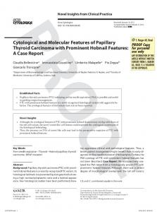 Cytological and Molecular Features of Papillary