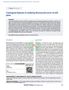 Cytological features of ossifying fibromyxoid tumor of ...