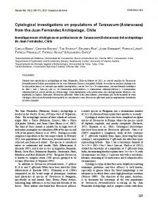 Cytological investigations on populations of