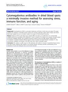 Cytomegalovirus antibodies in dried blood spots: a ... - Springer Link