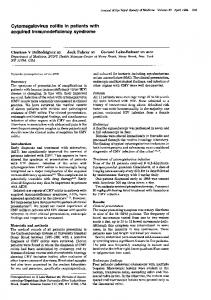 Cytomegalovirus colitis in patients with acquired immunodeficiency ...