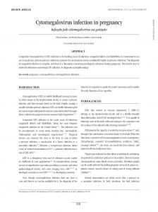 Cytomegalovirus infection in pregnancy - SciELO