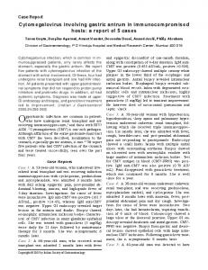 Cytomegalovirus involving gastric antrum in ... - MedIND