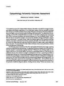 Cytopathology fellowship outcomes assessment - Wiley Online Library