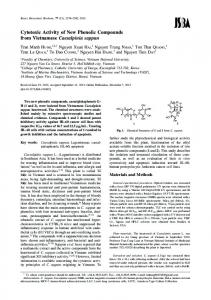Cytotoxic Activity of New Phenolic Compounds from ... - J-Stage