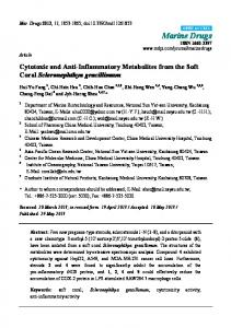 Cytotoxic and Anti-Inflammatory Metabolites from