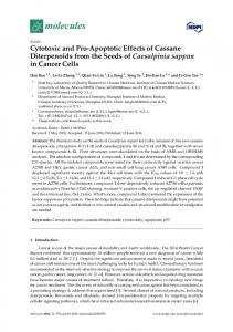 Cytotoxic and Pro-Apoptotic Effects of Cassane