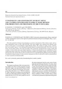 cytotoxicity and genotoxicity of heavy metal and cyanide-contaminated ...