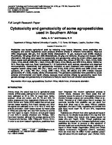 Cytotoxicity and genotoxicity of some ... - Academic Journals