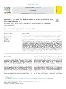 Cytotoxicity and molecular docking studies on