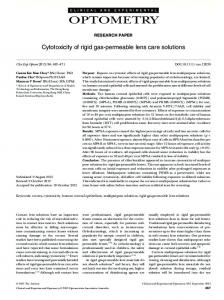 Cytotoxicity of rigid gaspermeable lens care solutions