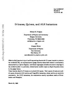 D-branes, Quivers, and ALE Instantons