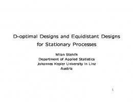 D-optimal Designs and Equidistant Designs for Stationary Processes